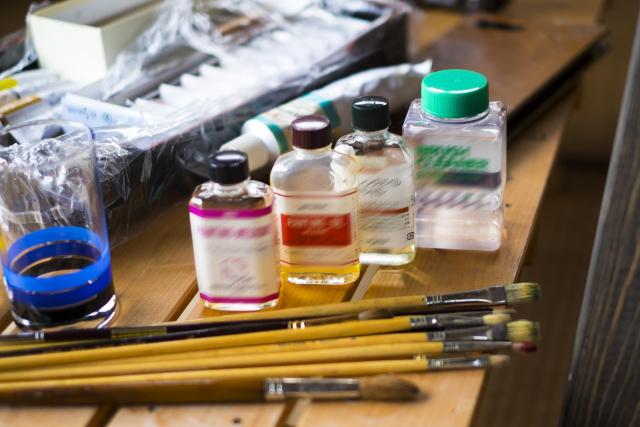 油絵に使う道具
